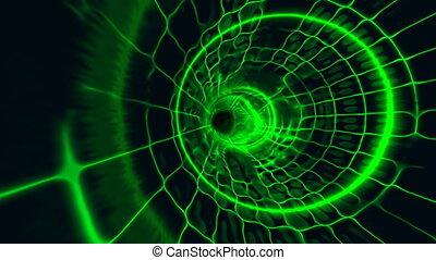 tunnel plasma green