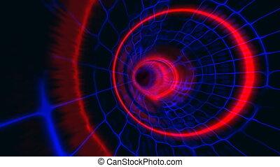 tunnel plasma red blue