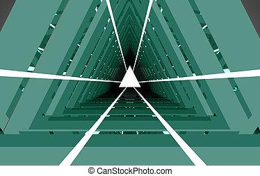 tunnel, résumé, .3d, illustration, 3d