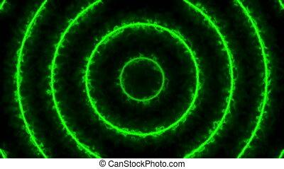tunnel., résumé, arrière-plan vert, numérique, énergie