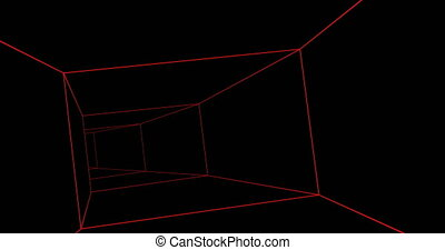 Tunnel red lines able to loop seamless