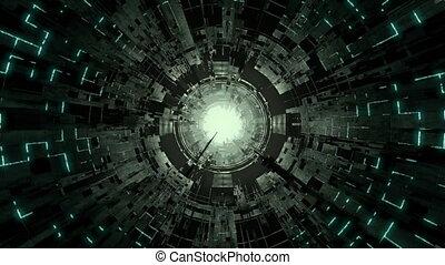tunnel, sci-fi, futuriste