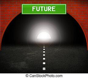tunnel, til, fremtid