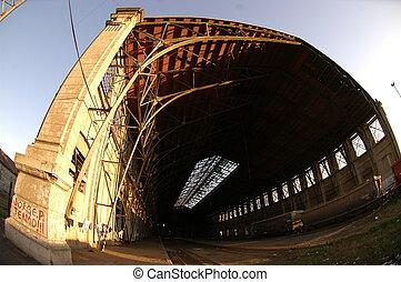 tunnel, train, abandonnés
