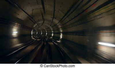 Tunnel train speed - Viewed from the transit system tunnel