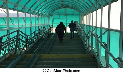 Tunnel transition stairs across the road. Russia is a...