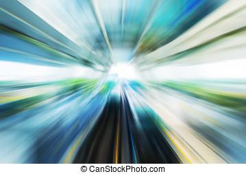 tunnel, trein, verhuizing
