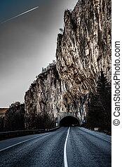 tunnel, vej
