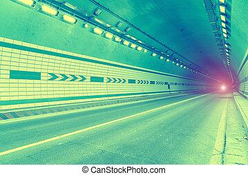 tunnel, verhuizing, vasten