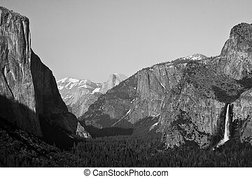 Tunnel View - One of the most famous views in Yosemite. From...