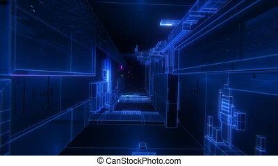 tunnel, vj, techno, boucle