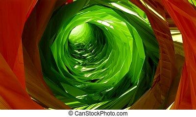 tunnel, voler, coloré, interminable