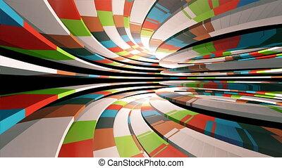 tunnel, voler, par, coloré
