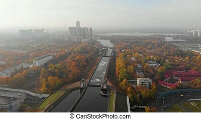 Tunnel ? Volokolamskoe highway 410 under the Moscow Canal,...