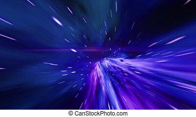 tunnel, vortex., résumé, vagues, hyper, saut, concept, ...