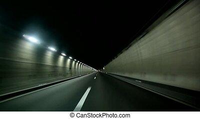 tunnel, voyage voiture