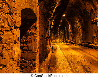 Tunnel with car