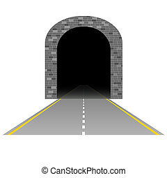 tunnel with road illustration one