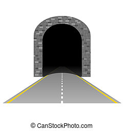 tunnel with road illustration two