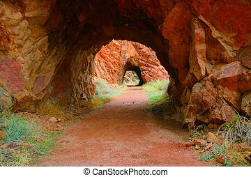 Tunnels - Two of the tunnels along an historic stagecoach...