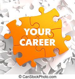 tuo, carriera, su, arancia, puzzle.