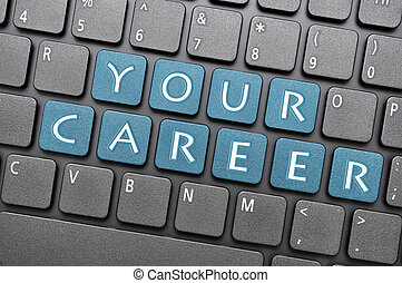 tuo, carriera, su, tastiera