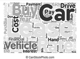tuo, concetto, parola, automobile, prossimo, comprare, fondo, testo, o, nuvola, contratto affitto