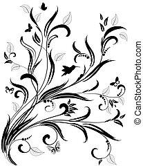 tuo, disegno, ornamento, floreale
