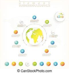 tuo, disegno, vettore, disposizione, posto, workflow, opzioni, 3d, web, grafico, infographic, testo, moderno, illustrazione, design.
