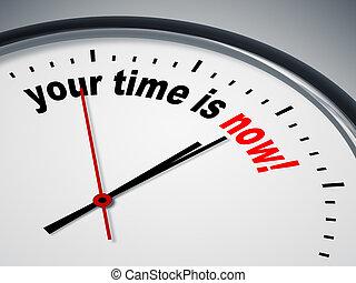 tuo, tempo, è, ora