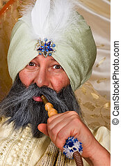 Turban and water pipe