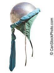 Turban hemispherical helmet, used by moorish armies during Reconquista period, 11-13th Century. Isolated