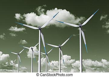 turbin, energi, linda