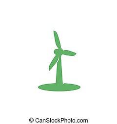 turbina, ícone, vento