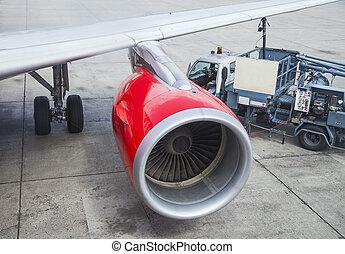 turbina, avião