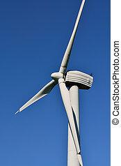 turbina del viento, primer plano