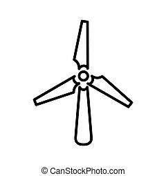 turbina, desenho, vento, ilustração