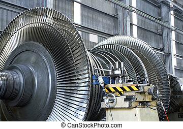 turbina, em, oficina