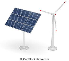 turbina, felteker, nap- ablaktábla