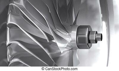 turbina, metaliczny