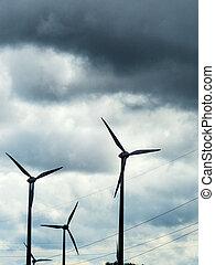 turbina, polos, poder vento