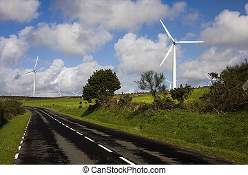 turbina, renovable, energía eólica