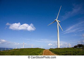 turbina, rinnovabile, energia vento