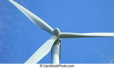 turbina, szczelnie-do góry, wiatr