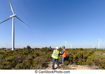 turbina, vento, engenheiros