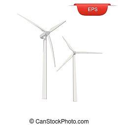 turbinas, energia, vento, renovável