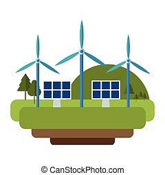 turbinas, energia, verde, vento