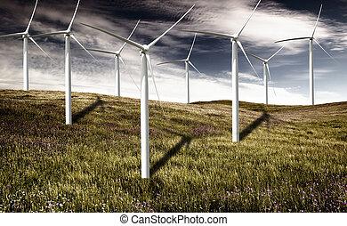 turbinas, vento