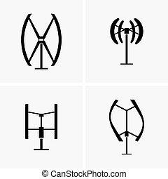 turbinas, vertical, vento, eixo