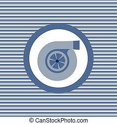 Turbine color flat icon